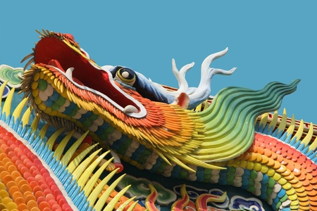 Asian temple dragon  photo