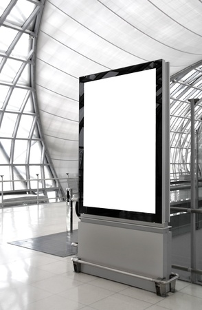 billboard posting: Blank billboard Stock Photo