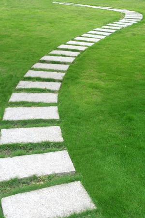 A flagstone walkway  photo