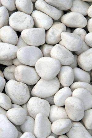 white pebble: White stone background (texture)