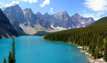 モレーン湖、カナダ 写真素材