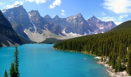 Moraine Lake, Kanada Lizenzfreie Bilder