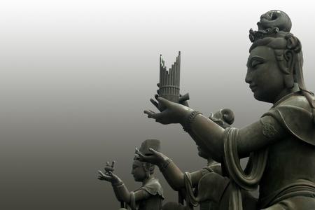 worshipers: The buddha worshipers  Stock Photo