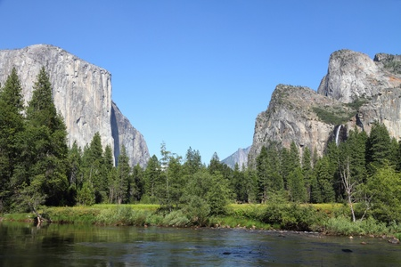 sierra nevada mountains: Yosemite  Stock Photo