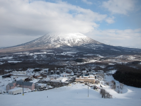 Hokkaido, Japan - Hirafu and Mount Yotei,