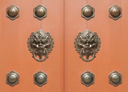 architectural feature: Asian door Stock Photo