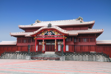 Shuri Castle, Naha, Okinawa, Japan Editorial