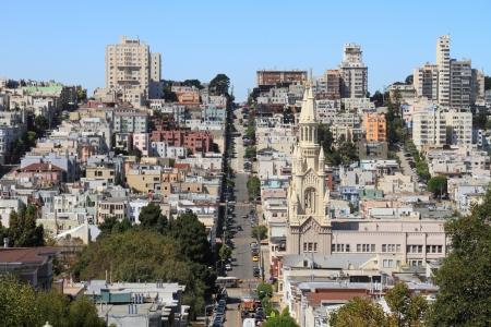 San Francisco ストリート ビュー 写真素材