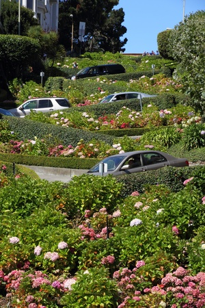Lombard street in San Francisco, California, USA photo