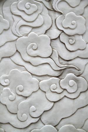 벽에 아시아 스타일의 꽃 패턴 스톡 콘텐츠