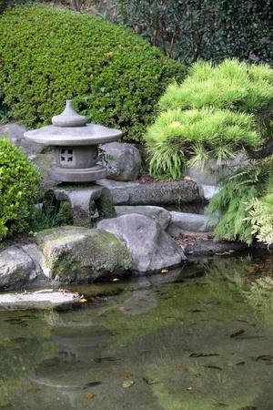 garden pond: Japanese garden