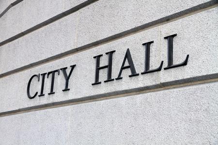 市庁舎の記号