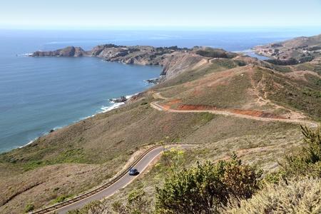 california coast: California coast  highway 1  in Marin county