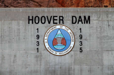 famous industries: Hoover Dam logo Editorial