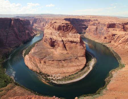 Horseshoe Bend of Colorado river in Page, Arizona