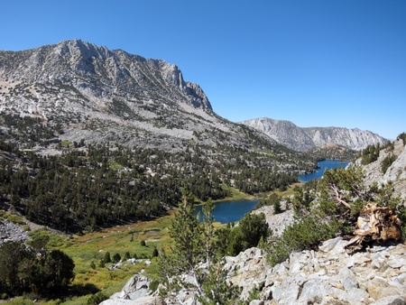 john muir wilderness: Mountain landscape in Kings Canyon National Park, California