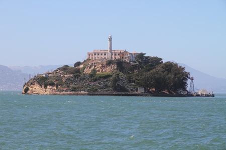 サンフランシスコで有名なアルカトラズ島 写真素材