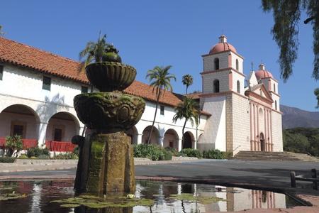 california: Santa Barbara Mission, California Stock Photo