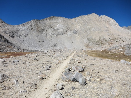 Hiking trail through mountains - Pacific Crest trail photo