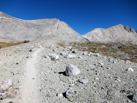 Hiking trail through mountains - Pacific Crest trail Stock Photo - 13054017