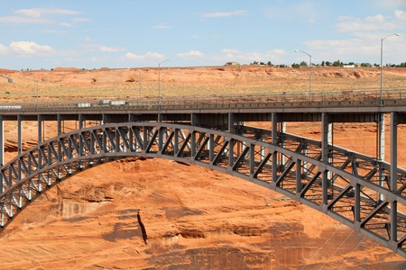 Glen canyon dam bridge photo