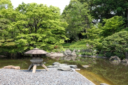 Beautiful japanese green park in early summer Stock Photo - 13918855