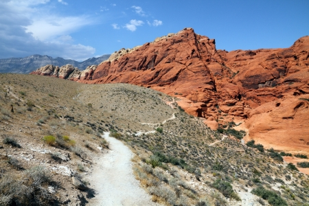 Hiking trail into Red rock canyon, Nevada photo