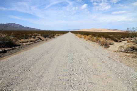 Dirt road through Desert