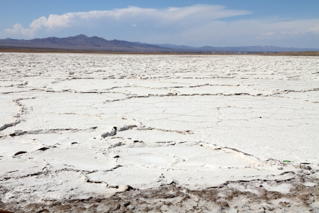 salt flat: Salt flat near Mojave desert, USA Stock Photo