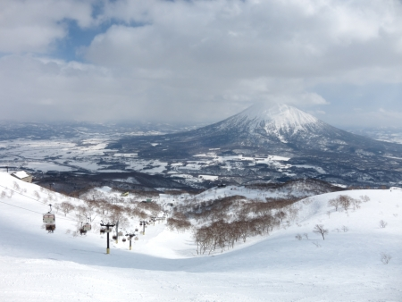 Ski runs in Hokkaido, Japan � Hirafu, Niseko and Mount Yotei photo