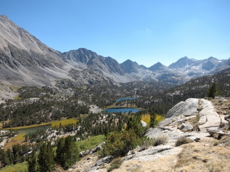 john muir wilderness: Hermosa vista de las monta�as de Sierra, California Foto de archivo