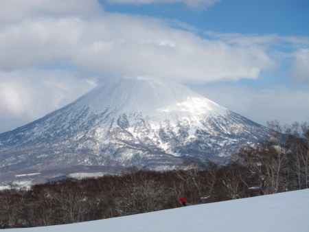 Ski runs in Hokkaido, Japan  Hirafu, Niseko and Mount Yotei  photo