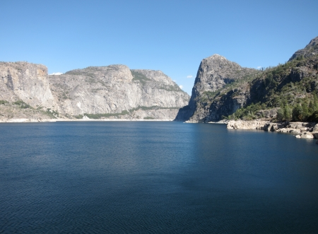 Hetch Hetchy Dam In Yosemite National Park  serving San Francisco drinking water