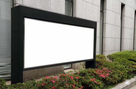 Blank billboard Stok Fotoğraf