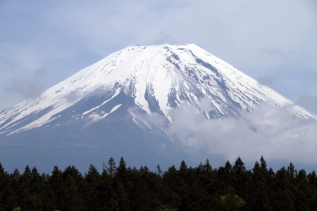 Mount Fuji peak, Japan