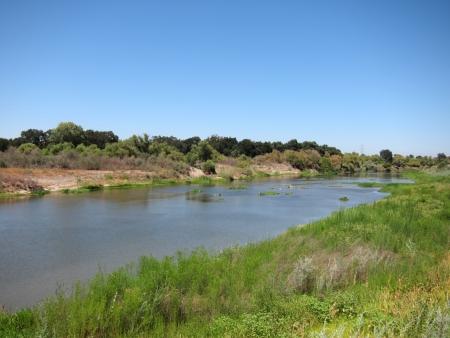 San Joaquin River in Central Valley, Kalifornien