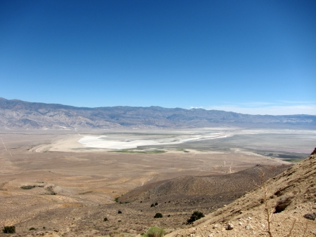 Overview of Owens Valley, California, USA