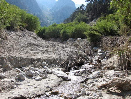Landslide on the riverside photo