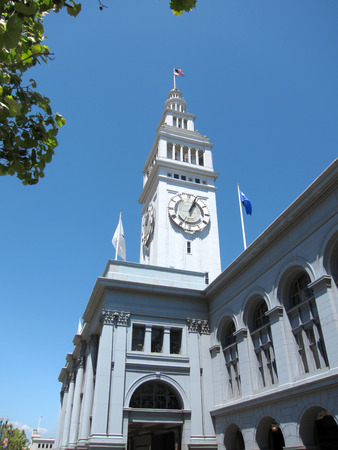 Historic Ferry Building in San Francisco, California Stok Fotoğraf