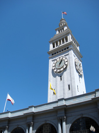 sf: Historic Ferry Building in San Francisco, California Stock Photo