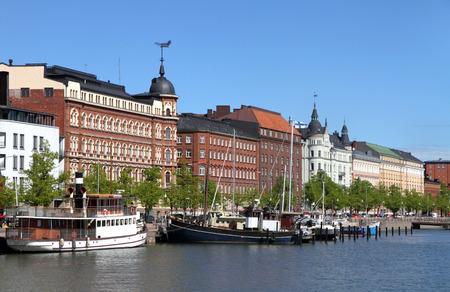 Old Town Helsinki Finland Stok Fotoğraf