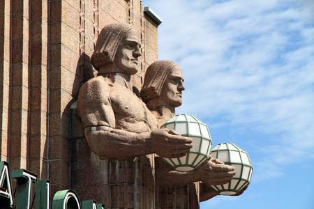Central railway station  Helsinki Finland