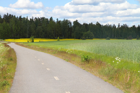 Country road in Finland Stok Fotoğraf - 43582249