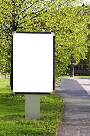 Blank billboard on a street Stok Fotoğraf - 43583219