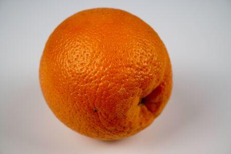 Orange isolated on white background. Close-up photo Reklamní fotografie