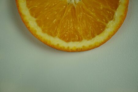 Fresh sliced oranges and on white background Фото со стока - 130801459