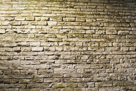 Vintage old stone wall texture. night shoot Banque d'images - 131956287