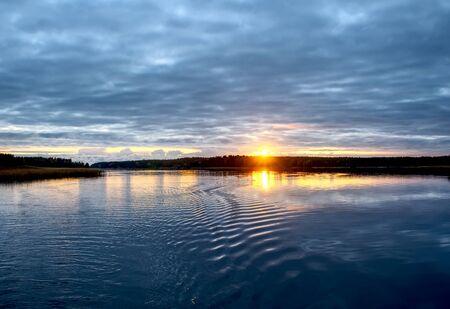 Amaizing cloudscape over the baltic sea, sunrise shot in Finland, Raasepori, Tammisaari, Ekenas