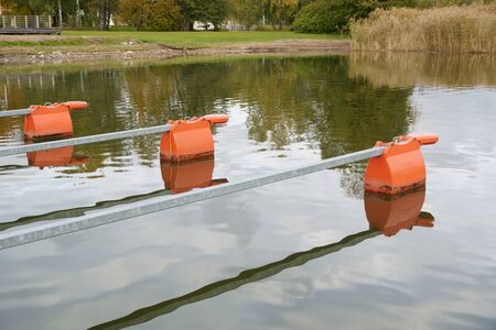 plastic buoys for mooring a small boat