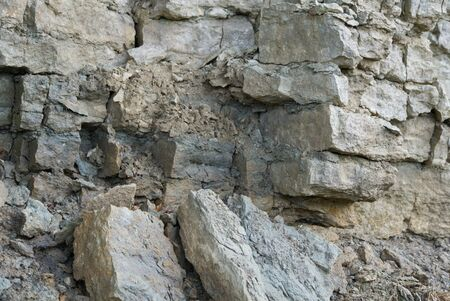 limestone rock Layers and cracks in sedimentary rock,can be used as background or texture. Cracks and layers of sandstone in Baltic countries, Estonia